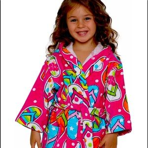 Girls Pink Beach Robe Cover Up